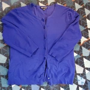 Cable and gauge women's large quarter sleeve btnup